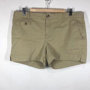Banana Republic City Chino khaki shorts size 14